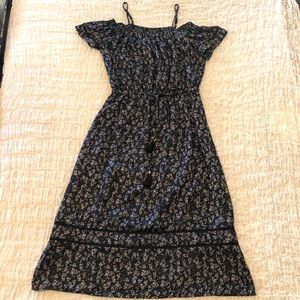 Lucky Brand Midi Off Shoulder Dress- Small
